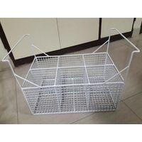 Plastic Coating Freezer Wire Basket with Handle