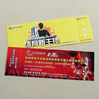 movie ticket / bus ticket / amission tickets anti-counterfeiting printing service in factory