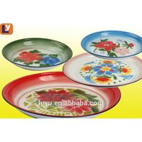 Hot sale 25-80cm enamelware round tray deco