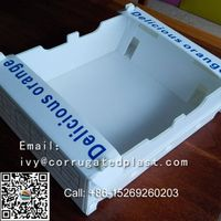 corrugated PP package box for orange packing carton,Orange Corrugated Plastic Folding Packing box thumbnail image