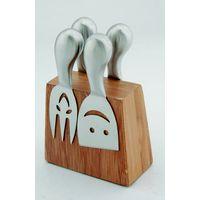 Rinvay 4pcs cheese knives set