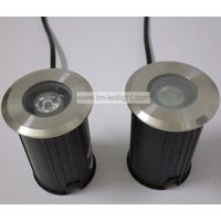 led floor lamp 12v 85-265v 1w stainless stair step light