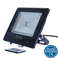 Slim RGB LED flood light dimmable/Slim colorful LED outdoor flood light/10W/20w/30w/50w/100w