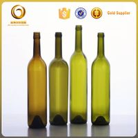 cheap 750ml green wine glass bottles sale