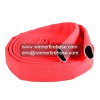 Extra Sturdy Abrasion Resistant Red Double Jacket Fire Hose