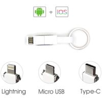 4 in 1 USB Cable, Fast Charging Data Cable, Universal Micro USB Cable, Lightning Cable, Type C Cable thumbnail image