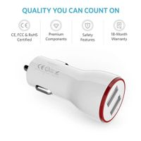 USB Car Charger Glowing LED fast charge Mini Car charger 4.8A mobile charger Car Lighter thumbnail image