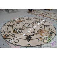 Marble Mosaic Art Water Jet Stone Mosaic Medallion