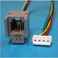Cat 6e RJ45 Modular Jack Plug Connector to Wiring Harness for Telephone Cord