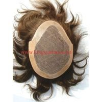 Hotsale virgin indian hair toupee for man man's hair replacement thumbnail image