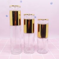 Logo printing color painting customized color cosmetic glass bottle clear with screw cap