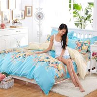 4pcs Home useful latest design queen size microfiber 75gsm indian print duvet cover beautiful bed sh thumbnail image