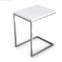 Popular small square silver fancy stainless steel hotel bedroom night stand side end table
