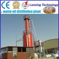 High Efficient safety device waste engine oil distillation plant