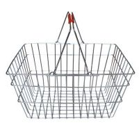 Wire Shopping Basket With Chrome Handle