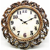 16 inch antique flower wall clock