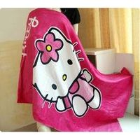 cotton beach towel with kitty printed