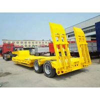 13m Long 3 Axles Lowbed Loader Transport Semi Trailer