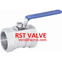 NPT/BSPT/BSPP 1PC TYPE Threaded Ball Valve,WCB/CF8/CF8M, 1000WOG