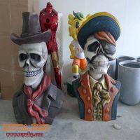 Halloween crafts,fiberglass festival decoration, ghost sculpture thumbnail image