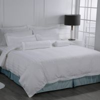 Eliya Wholesale Luxury Fitted Textile Linen White 100% Cotton 5 Star Hotel Bed Sheet Set thumbnail image