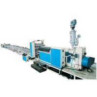 Wood and plastic sheet production line