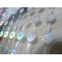 Washing Aluminum Hot stamping hologram film label transparent background