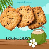 BLACK SESAME COCONUT CRACKER WITH FACTORY PRICE