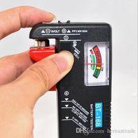 Handheld Digital Battery Tester Clear Pointer Display Black BT168 1.5V 9V Battery Tester thumbnail image