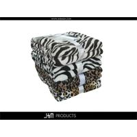 100% Polyester Fleece Printed Coral Blanket with Zebra thumbnail image