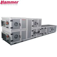 50mm PU foaming insulation air handling unit 50mm rock wool insulation air handling unit