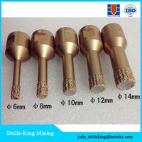 Brazed Diamond cutting and drilling tools brick wall hole saw/Hilti Vacuum Brazed hole saw bits for