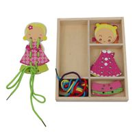 Wooden Girl String Dressing Game Toy for Kids thumbnail image