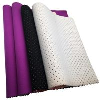 high quality 3mm perforated neoprene laminated with grape color velvet fabrics for bags
