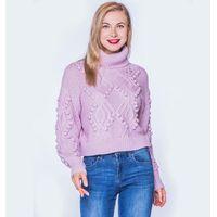Fur Ball Turtleneck Sweater Wholesale