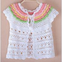 handmade crochet dress for baby girls thumbnail image