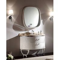 S-1511 White Oak Wood Bathroom Cabinet