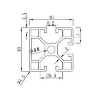 Framing Extrusion of aluminum profile BT4040E1