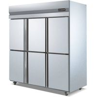 6 Doors Vertical/upright Stainless Steel Refrigerator/freezer; double temperature Refrigerator