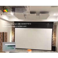 XYScreen Concealed Hidden In-ceiling Projector Screen electric tab tensioned screen for 4K projector thumbnail image
