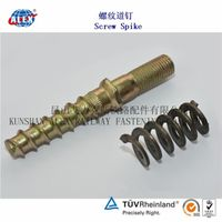double end stud bolt with spring washer for railway Nabla fastening system thumbnail image