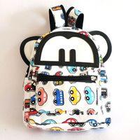 Cute cartoon design canvas backpack school backpack for kid