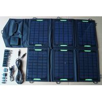 21watt foldable solar bag charger CY-021 with voltage controller fit for iPad/iPhone