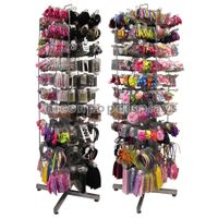 Fashion Shop Rotating Hair Accessories Bow Tie Display Rack