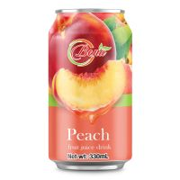Fresh Juice 330ml Canned Peach Fruit Juice Drink from BENA beverage companies suppliers thumbnail image