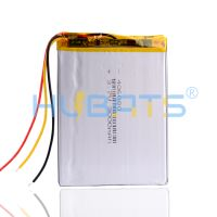 Hubats 406080 3000mAh 3.7V Lithium Polymer Battery with 3 wires for Onyx Book Darwin 3 Readers Books thumbnail image