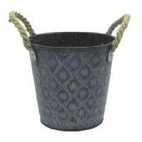 Zinc iron sheet material metal flower pot thumbnail image