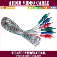 Transparent Mix Colors Hot-sale AV Cable in 2015