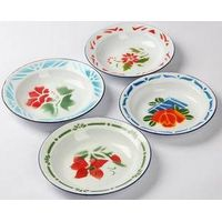 Hot sale 14-26cm enamelware soup plate deco and plain