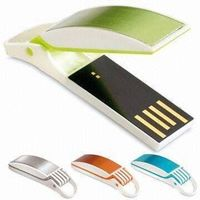 Swivel USB Flash Drive with USB 2.0 Interface and Shockproof Feature